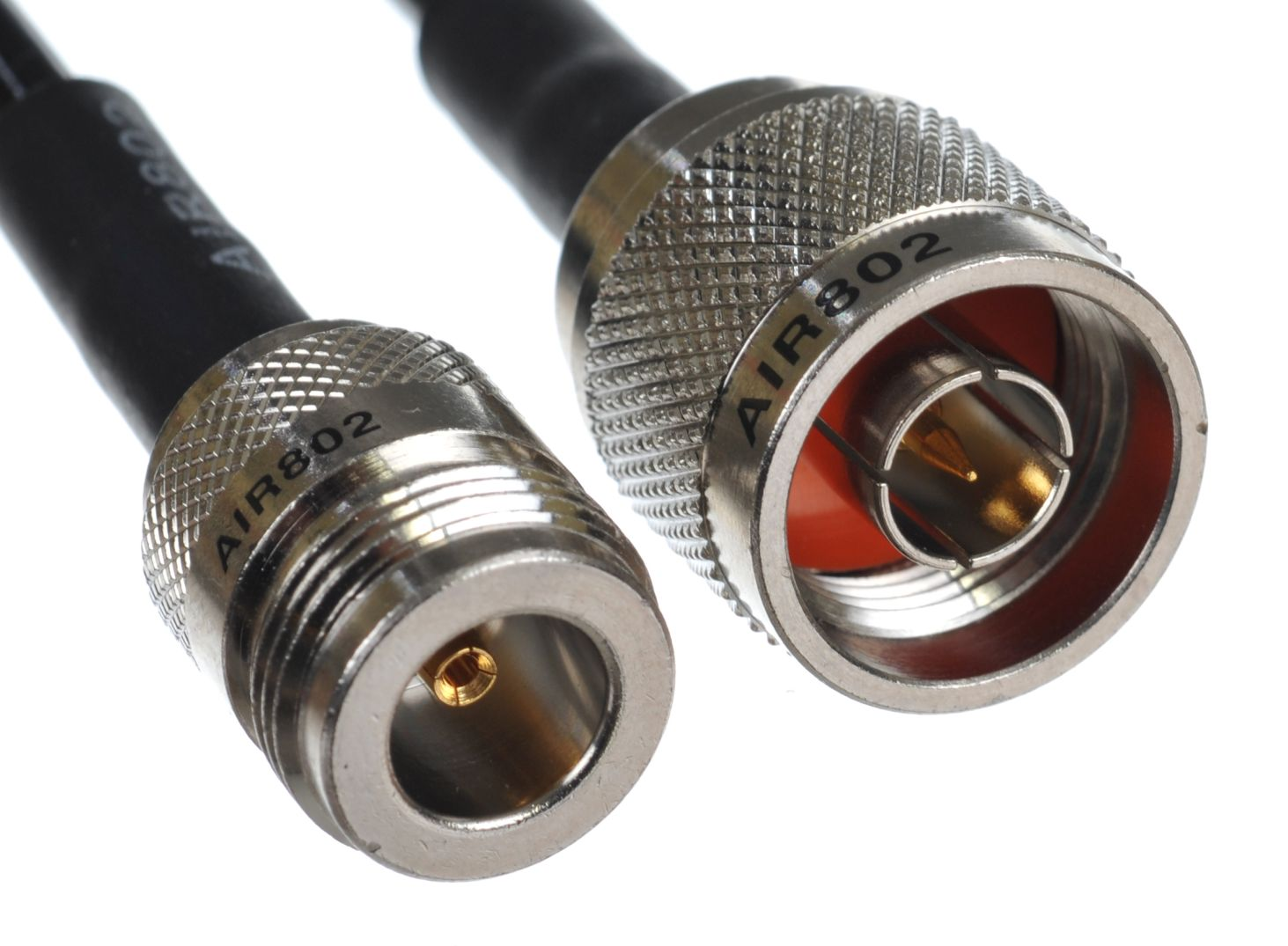 CA195 8 feet black n plug or male to n jack or female antenna cable assembly or jumper equivalent to lmr195 and a rg58 replacement