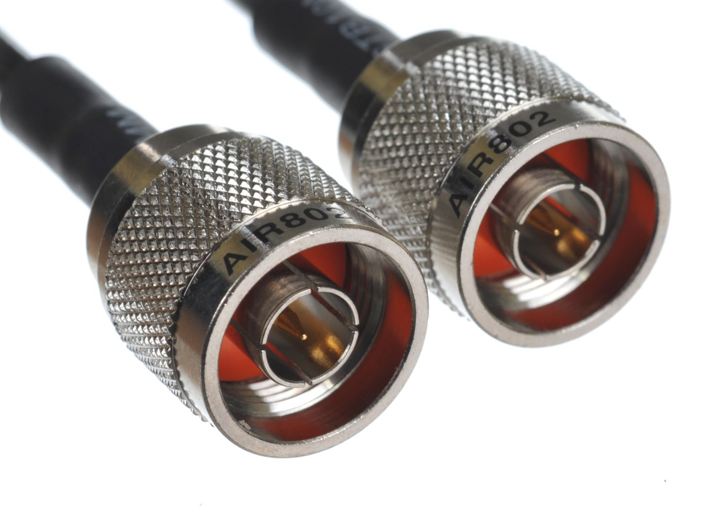 CA195 1 foot black antenna cable assembly or jumper with n plug male connectors at each end 1 foot equivalent to lmr195 and a rg58 replacement