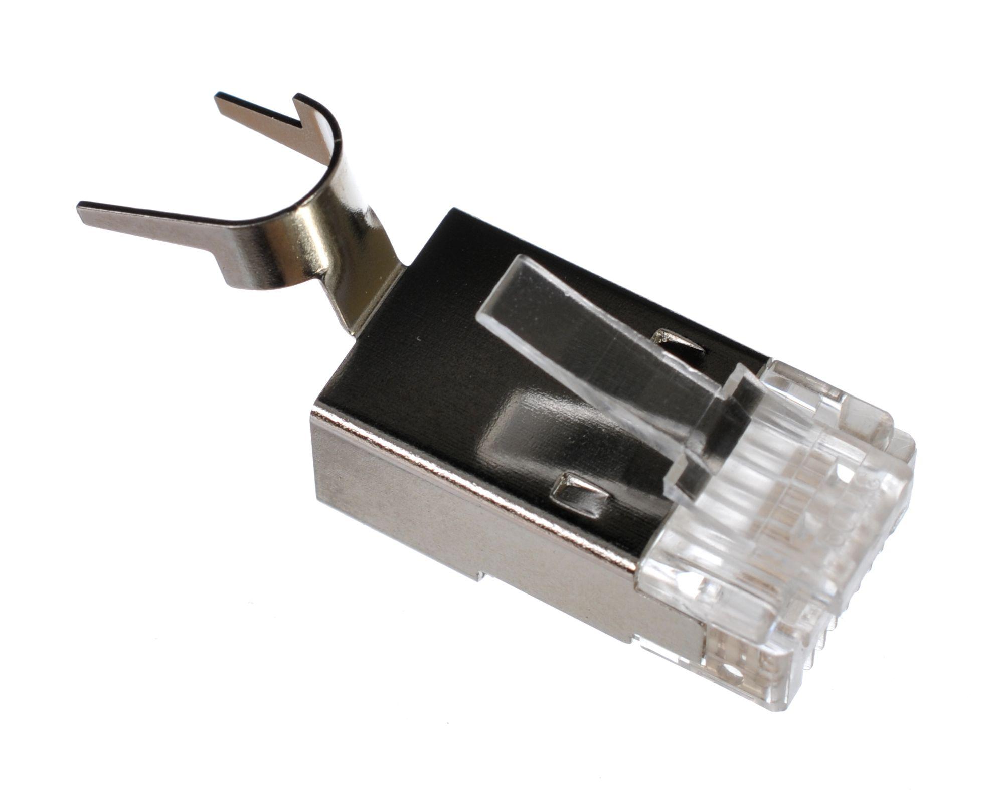 8P8C RJ45 Modular Shielded Plug | Premium for Large O.D. Cable
