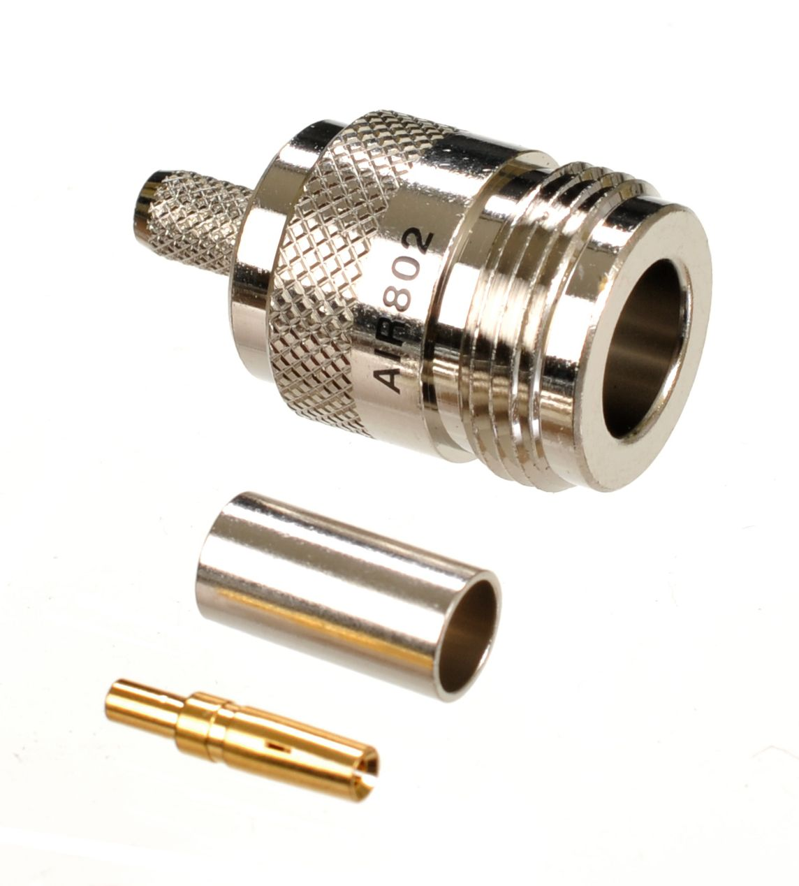N jack or female connector for AIR802 CA195, Times Microwave LMR195, RG58 and similar sized cables.