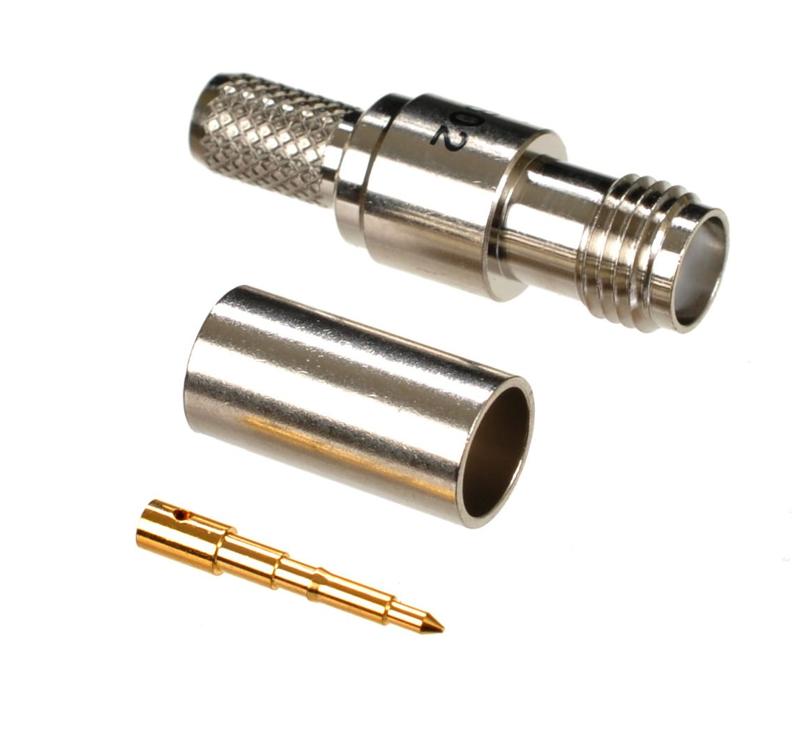 RP-SMA jack-female connector for AIR802 CA195, Times Microwave LMR195, RG58 and similar sized coaxial cables.