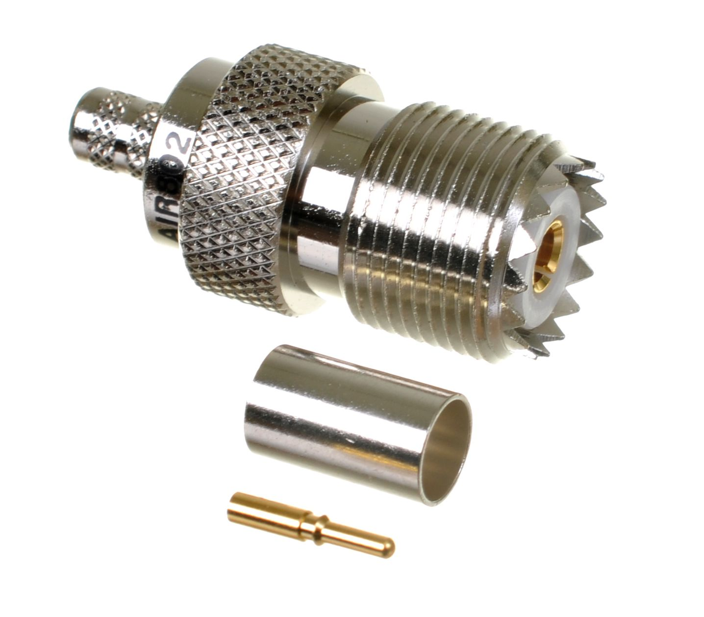 UHF jack-female or SO-239 connector for AIR802 CA240, Times Microwave LMR240