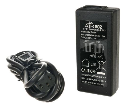 PSA18V19W 18 vdc 19 watt PoE midspan injector