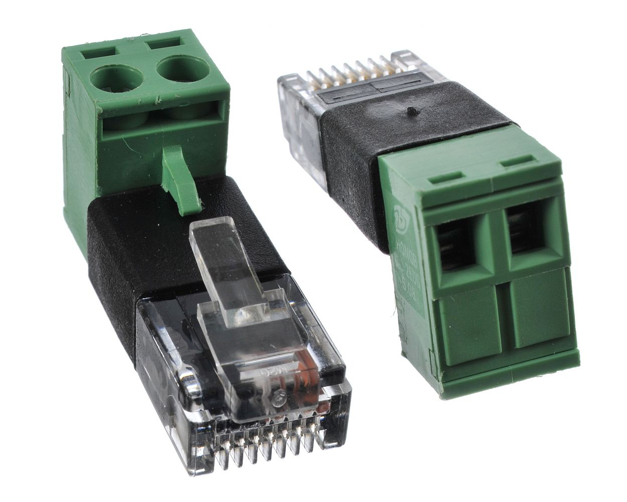 Rj45 Modular Plug To Screw Terminal Poe Extraction Adapter Wiring A French 3 Pin Wire For Voltage